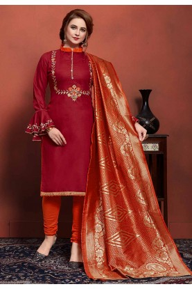 Maroon Colour Salwar Suit.