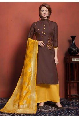 Brown Colour Designer Salwar Suit.