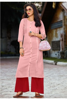 Pink Colour Party Wear Kurti.