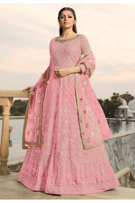 Pink Colour Georgette Designer Salwar Suit.