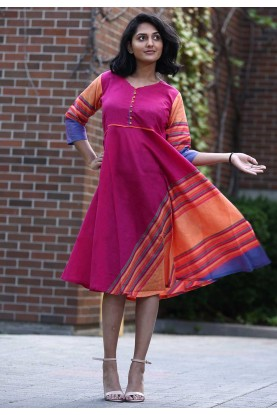 Pink Colour Stylish Kurti.