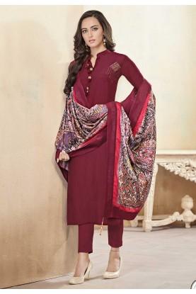 Maroon Colour Salwar Suit.