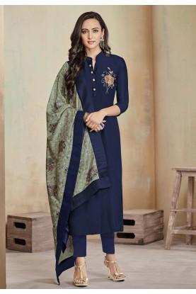 Blue Colour Salwar Kameez.