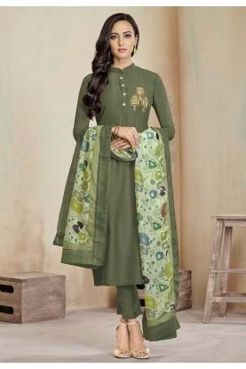 Green Colour Indian Salwar Suit.