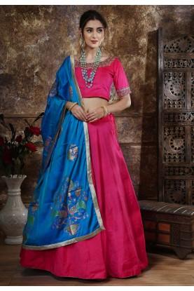 Pink Colour Lehenga Choli.