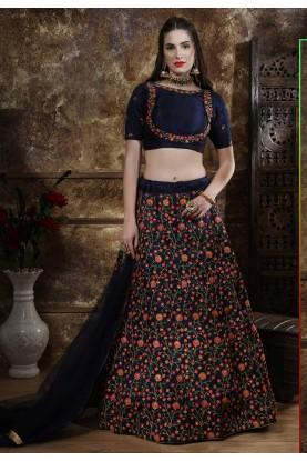 Exclusive Designer Wedding Lehenga Blue Colour.