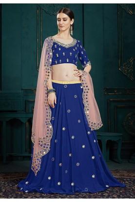 Blue Colour Party Wear Lehenga.