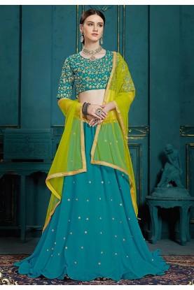 Designer Lehenga Choli Blue Colour.