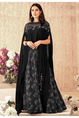 Black Colour Party Wear Lehenga Choli.