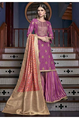 Magenta,Pink Colour Salwar Suit.