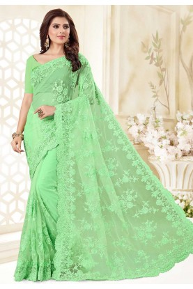Green Colour Saree.