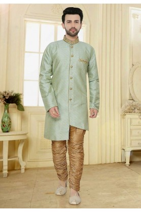 Green Colour Indo Style Kurta Pajama.