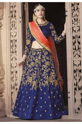 Indian Designer Lehenga Choli Royal Blue Color