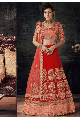 Red Color Designer Bridal Lehenga Choli