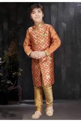 Maroon,Beige Color Readymade Kurta Pajama