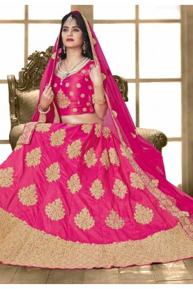 Royal Pink Color Designer Bridal Lehenga Choli