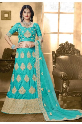 Attractive Lehenga Choli in Turquoise Color