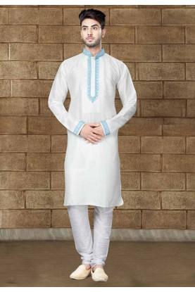 Off White Color Readymade Kurta Pajama
