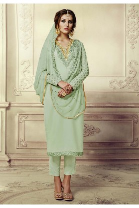 Incredible Salwar Kameez in Green Color & Georgette Fabric