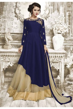 Beautiful Blue Color Anarkali Salwar Kameez