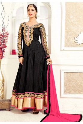 Black Color Georgette Designer Salwar Kameez