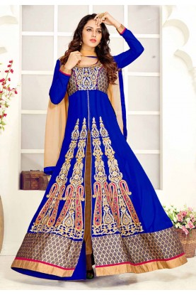 Blue Color Georgette Designer Salwar Kameez