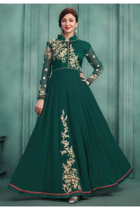 Beautiful Green Color Party Wear Salwar Kameez