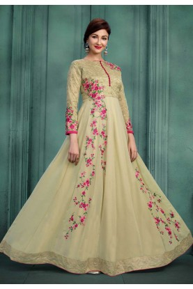 Astounding Beige Color Bollywood Salwar Kameez
