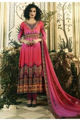 Beautiful Pink Color Anarkali Salwar Kameez