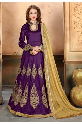 Purple Color Designer Salwar Kameez