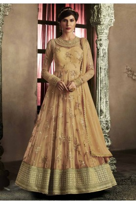 Nice Looking Orange Color Designer Salwar Kameez