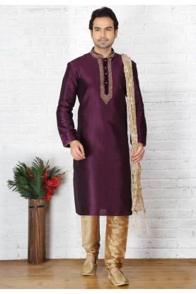 Designer Kurta Pajama in Purple Color
