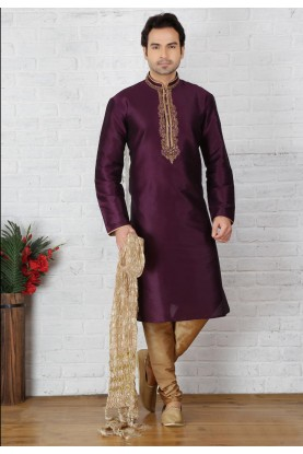 Magenta Color Designer Readymade Kurta