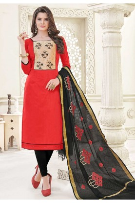 Red Casual Salwar Kameez