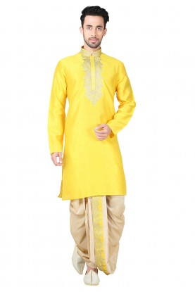 Buy Dhoti Kurta Online for Men in Exquisite Boy's White Color