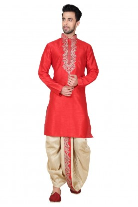 Buy Dhoti Kurta Online for Men in Exquisite Collar Neck