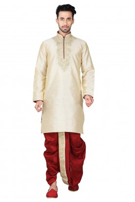 Buy Dhoti Kurta Online for Men in Exquisite Brown Color