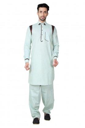 Pathani Kurta Pajama Online Blue Color