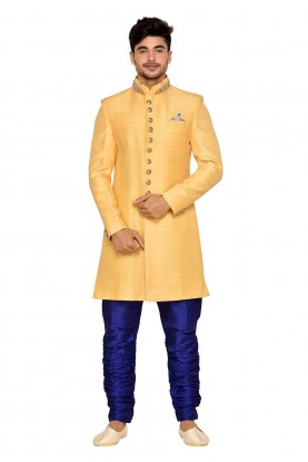 Yellow Color Indian Wedding Indowestern.