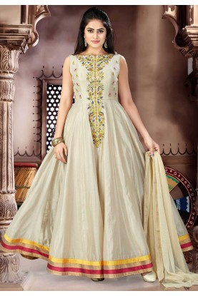 Beige Color Salwar Kameez.