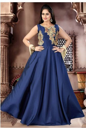 Blue Color Readymade Salwar Kameez.