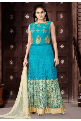 Green Color Designer Salwar Kameez.