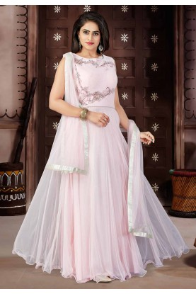 Pink Color Party Wear Salwar Kameez.