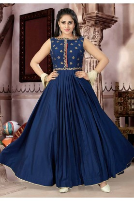 Blue Color Designer Salwar Suit.