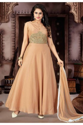 Peach Color Readymade Salwar Kameez.