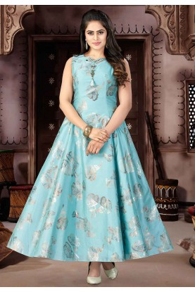 Green Color Readymade Salwar Suit.