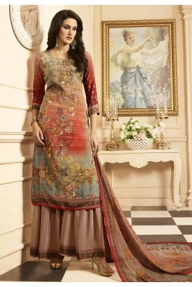 Multi Color Printed Salwar Kameez