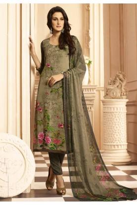 Green Color Salwar Suit.