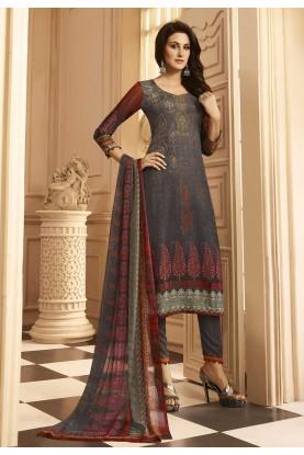 Blue Color Party Wear Salwar Suit.