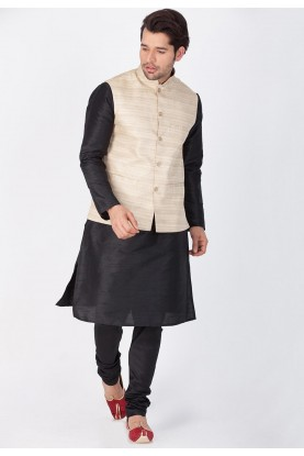 Latest Black,Beige Color Readymade Kurta Pajama with Jacket